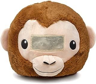 Plush Animal Head Mask Costume | Fun Furry Mascot Head with Mouth Opening