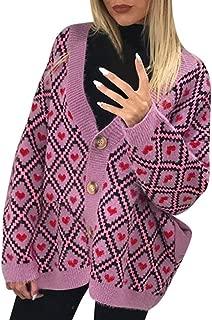 Women Chunky Knit Short Kimono Cardigan Tops Fashion Print Duffle Coat Sweater Jacket with Buckle