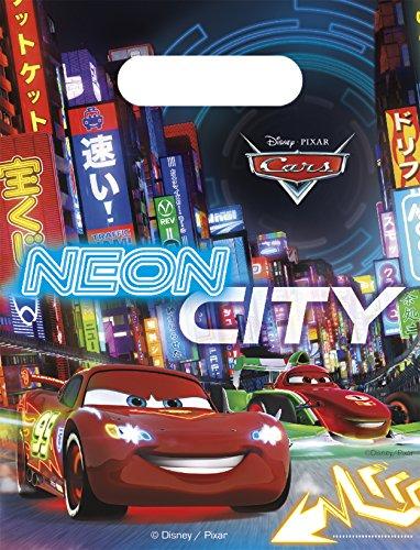 Disney Pixar Cars - Neon City - 6 sachets d'anniversaires enfant