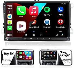 "$269 » SCUMAXCON Car Radio Carplay Android Auto DZT029 9"" Car Stereo Android10 Double Din USB for VW Jetta Golf Passat Polo Caddy..."