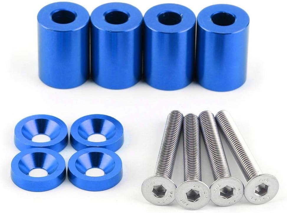 Blau Motorhaubenheber Motorhaubenheber aus Aluminiumlegierung Motorhauben-Abstandshalter Schrauben Modifizierter Teilesatz f/ür Rennwagen