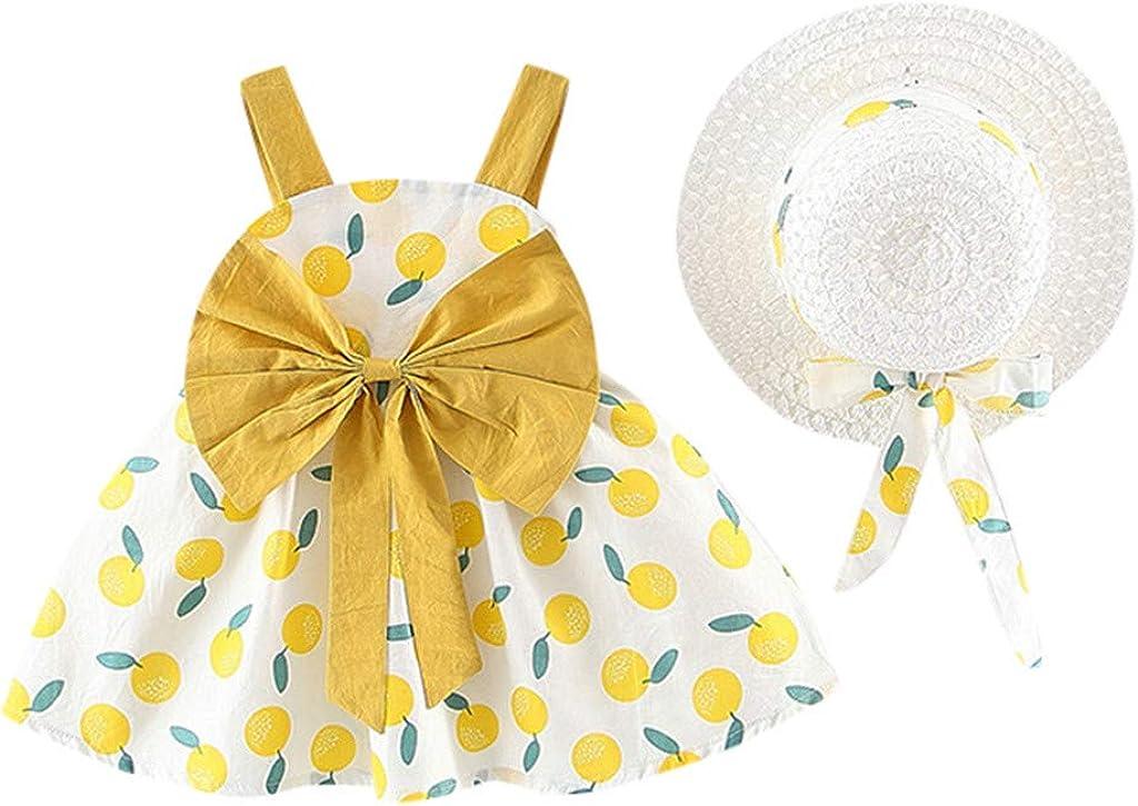 FIN86 Max 73% OFF Manufacturer OFFicial shop Infant Girls Dresses Toddler Print Suspender Kids Cherry