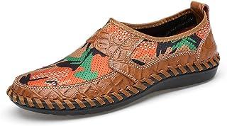 HUANGAIHUA Men's Loafer Flat Heel Solid Color Slip on Shoes