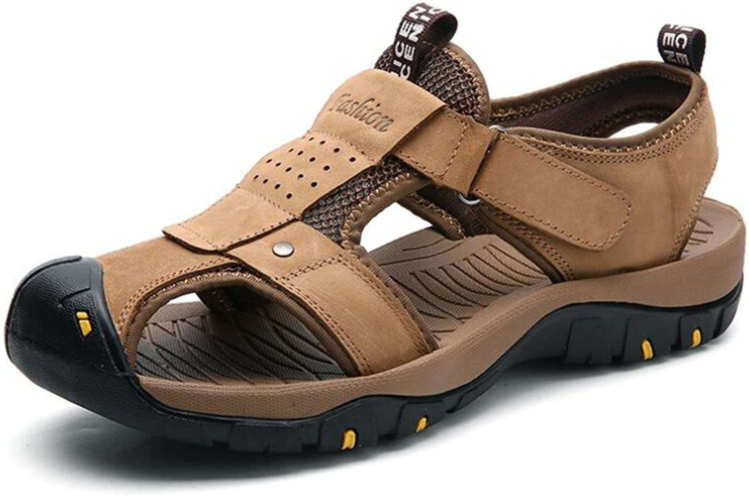 Mens Sandals - Durable Summer shoes, Comfort & Leather Beach shoes - For Spring Travel, Walking (color   B, Size   40)