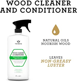 Wood Cleaner, Conditioner, Wax & Polish – Spray for Furniture & Cabinets..
