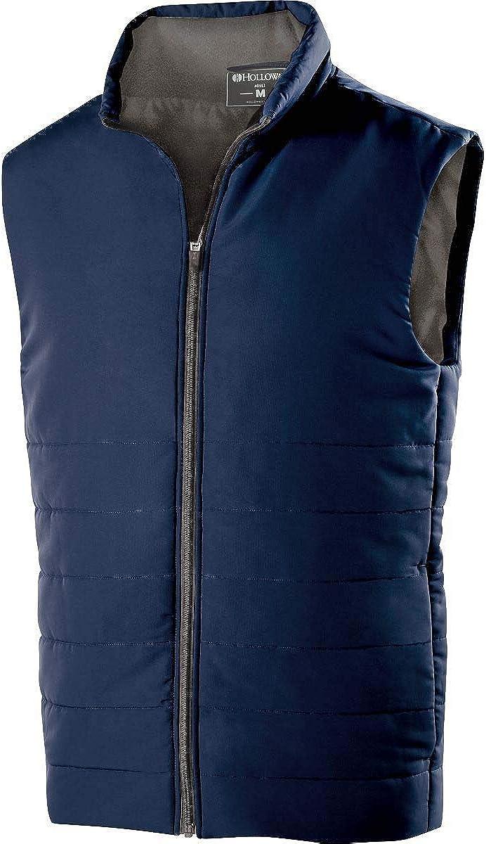 Holloway Adult Polyester Full Zip Admire Vest-Black