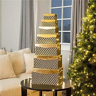 Glitzhome Set Christmas Thanksgiving Day Gift Box, 7 Piece, Gold (B075MZD41P) | Amazon price tracker / tracking, Amazon price history charts, Amazon price watches, Amazon price drop alerts