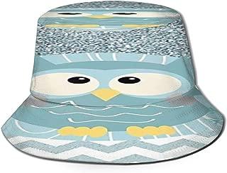 Fisherman Hat Bling Cute Owl Sun Hat Women Men Eye Protect Breathable Bonnie Cap 3D Printed Beach Hat Durable&Reversible for Summer Outdoor