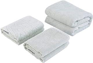 3 pcs Super Soft Towel Absorbent Cotton 2 x Hand Face 1 x Shower Cloth Set