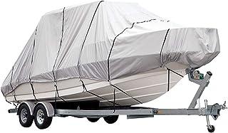 OGL Trailerable 12-27ft Boat Cover Waterproof Heavy Duty 600D Marine Grade Fabric for V Hull Fishing Boats