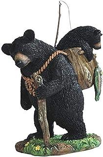 "StealStreet SS-G-54290 Black Bear Fishing with Cub Figurines, 7.5"""