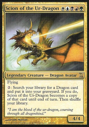 Magic The Gathering - Scion of The Ur-Dragon - Time Spiral - Foil