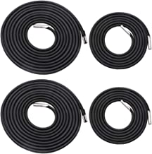 Universal 4 Replacement Cords for Zero Gravity Chair Replacement Laces Premium Bungee Ropes Recliner Repair Parts for Lounge Chair Anti Gravity Chair Bungee Chair (Black, 4 Cords(2 Longs + 2 Shorts))