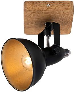 Briloner Leuchten - Luminaire à spots, spot mural, applique murale rétro, vintage, spot pivotant et orientable, 1x E14, mé...