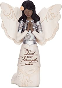 Pavilion Gift Company Elements 82324 Prayer Collectible Figurine, Ebony Kneeling and Praying Angel, 5-1/2-Inch