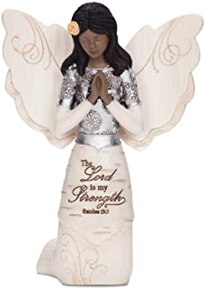 Pavilion Gift Company Elements 82324 Prayer Collectible Figurine, Ebony Kneeling and..