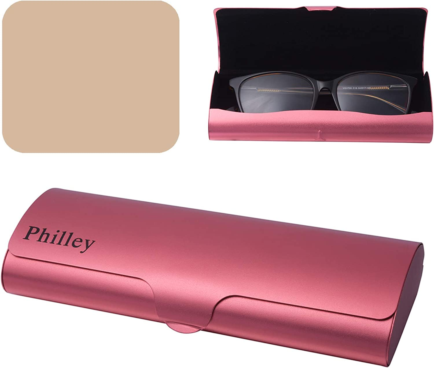 Philley Aluminum Ultra-Light Large special price Sales results No. 1 Eyeglass Nearsighte Shell Case Hard