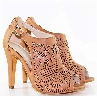 High Heel Women's Shoes Sandals,Brown,35