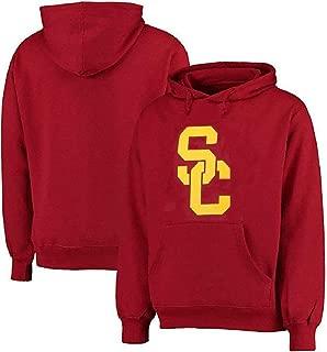 USC Trojans Mens Crimson Screened Interlock SC Hoodie Sweatshirt by 289c