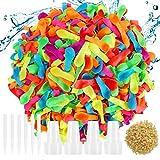 Hotelvs 1000 Globos de Agua para Fiesta, Water Bombs Verano Splash Fun Pelea de Agua Juego Juguetes al Aire Libre para Niños y Adultos, Multicolores