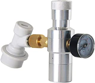 SNOWINSPRING Dispensador de CO2 con Cargador de Barril de Cerveza- Incluye Regulador de Barril de 0-30 PSI, Adaptador de Rosca de 3/8 Pulgadas, Cierre RáPido de Bola Gas para DesconexióN Casera