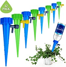 MinaNa Plant Waterer, Self Watering Spikes System with Slow Release Control Valve Switch, Care Your Indoor & Outdoor Home Office Plants-12 Pack
