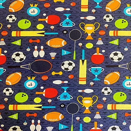 Visage - Tela deportiva para el día de los deportes, color azul marino VISF184, de 0,5 m, 100% algodón, color azul marino