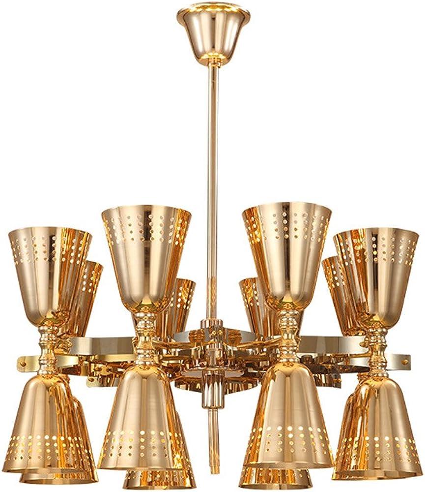 Pumpink nordic light ,lampadario a sospensione,16 punti luce,in ferro battuto P618