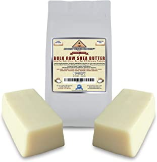 Organic Unrefined Raw AFRICAN IVORY WHITE SHEA BUTTER 2 LB (32 oz) BLOCKS Bulk Size Best Price Highest Quality Grade A for Anti Aging Dry Skin Base for DIY Body Butter, Beauty and Soap Making (Ghana)