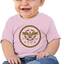 The Roman Empire Emblem Infant Kid's T Shirt Cotton Tee Toddler Baby 6-18M