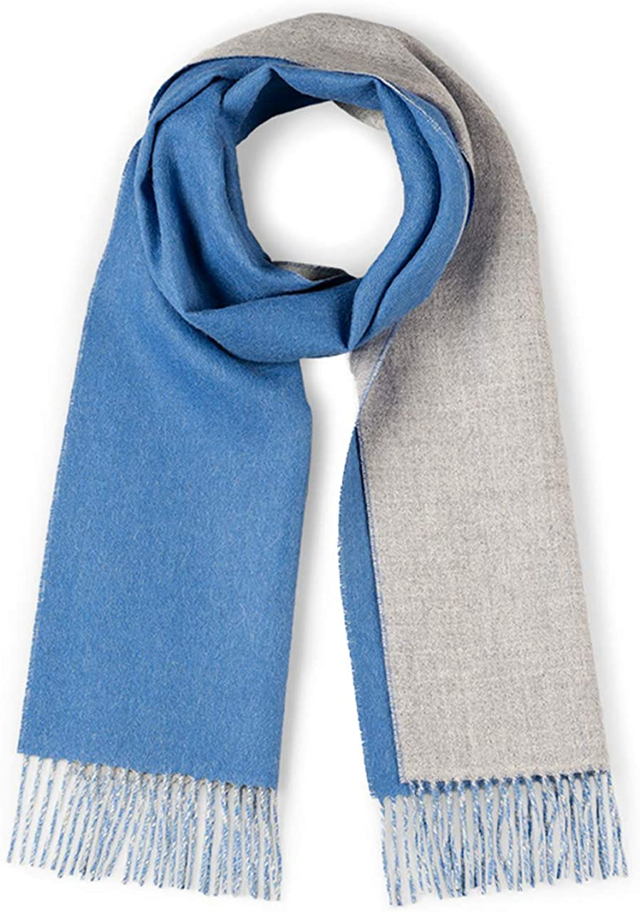 Alpaca Wool Scarf - 100% Pure Baby Alpaca - Double Sided Reversible Contrast Scarf