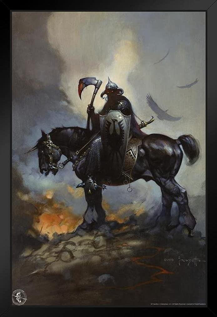 Death Dealer by Frank Frazetta Art Print Framed Poster 14x20 inch