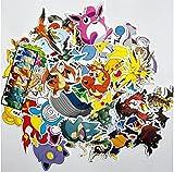 GSNY Pokemon Pikachu Graffiti Autocollant Mignon Dessin animé Valise Voiture électrique Ordinateur Portable étanche Voiture Autocollant 60 Feuilles