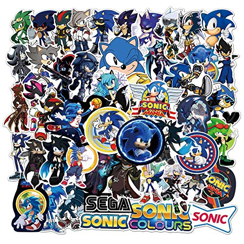 Juego 17 pegatinas 17 piezas juego Anime Sonic the Hedgehog pegatinas dibujos animados Graffiti pegatina ordenador portátil monopatín equipaje casco pegatinas