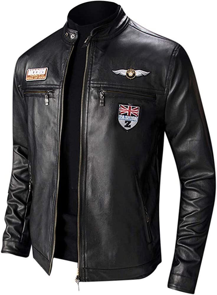 Leather Jacket 2021new shipping free wholesale Men Motorcycle Slim Black NRUTUP