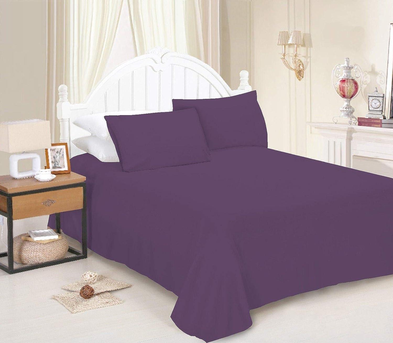 Lenzuolo di lusso in policotone morbido tinta unita per letto singolo arancione, matrimoniale FURZON matrimoniale disponibile in 16 colori moderni king size