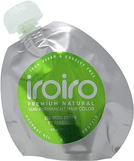 IROIRO Premium Natural Semi-Permanent Hair Color 350 Neon Green (4oz)