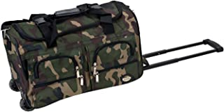 Rockland Luggage Rolling 22 Inch Duffle Bag, Camouflage, One Size