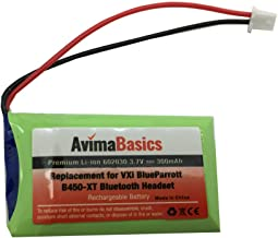 AvimaBasics Premium Replacement Rechargeable Battery Compatible with VXI BlueParrott B450-XT + B350-XT Wireless Bluetooth Headsets (1 Pack)
