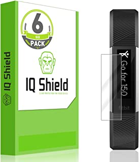 IQShield Screen Protector Compatible with Fitbit Alta HR (2017,Alta 2016,Ace 2018)(6-Pack) Anti-Bubble Clear Film