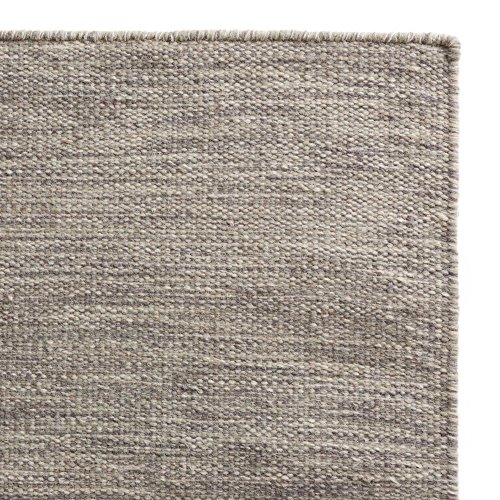 """URBANARA Teppich """"Gravlev"""" – 100% Woll-Baumwollmischung, Grau/Hellgrau mit Knotenstruktur,..."""