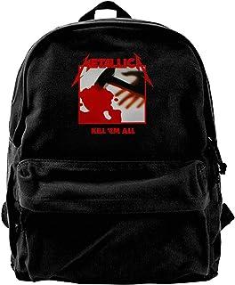 Mochila de lona Metallica Kill Em All Mochila de gimnasio senderismo portátil bolsa de hombro para hombres y mujeres