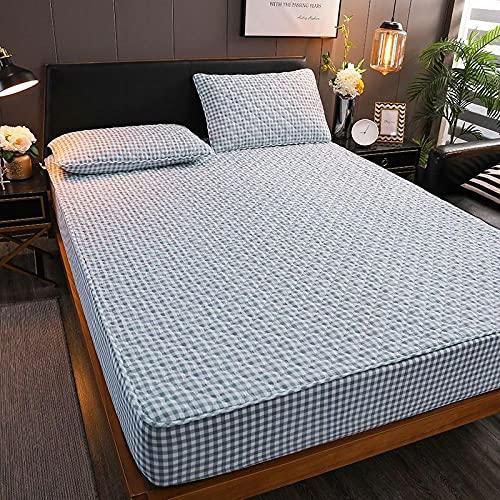 Hoeslaken Zacht Duurzaam,Gewatteerde hoeslakens, antislipmat voor slaapkamerappartement Hotel-Lan_Xiaoge_180x200cm
