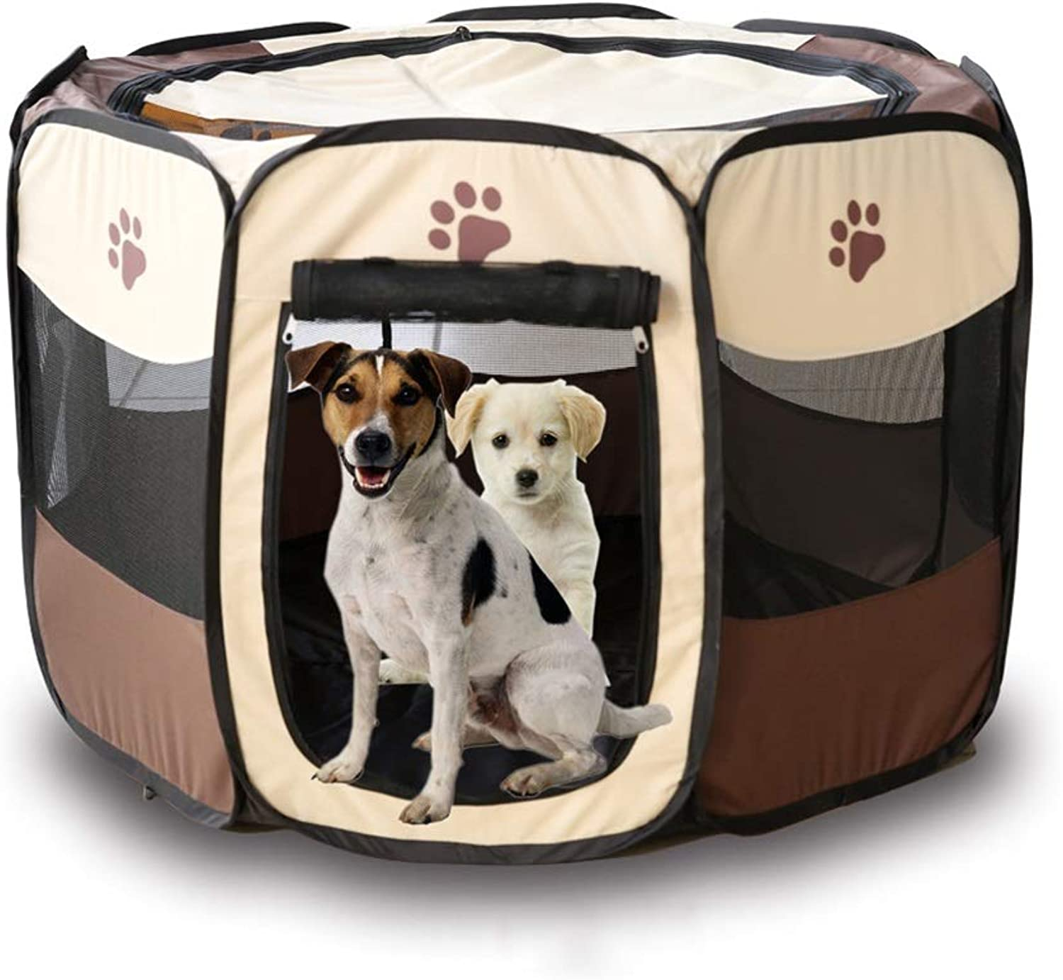 QIQI Pet Playpen Folding Dog Tent Pet Cage Portable Waterproof Pet Supplies (Size   70  70  45cm)