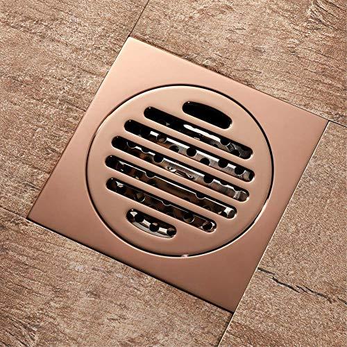 Nieuwe vloer afvoer messing Rose goud douchebak Badkuip Drainer Badkamer Toilet Keuken Balkon Universele Vloer Drain voor Badkamer Toilet Wasserij Tuin Outdoor Keuken