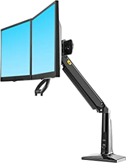 "NB North Bayou Ergonomics Interactive Dual Desk Monitor Mount Fits 22""-27"" Double Screens with Load 13.2 to 26.4 lbs F27 B..."