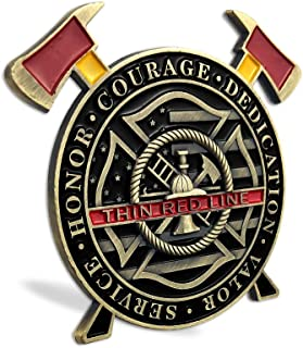Firefighter Challenge Coins Thin Red Line Maltese Cross Fire Rescue Fireman Coin