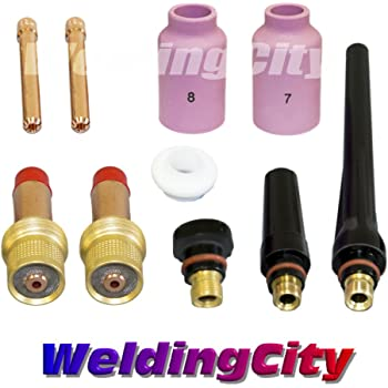 Cup-Collet-Gas Lens-Gasket-Back Cap for Torch 9//20//25 T39 WeldingCity.com 1//16 WeldingCity TIG Welding Gas Lens Accessory Kit