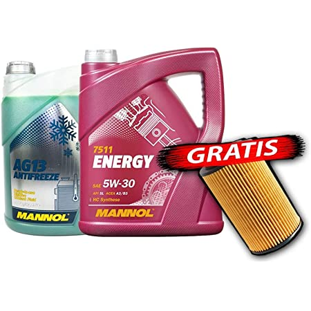 Sct Germany Mannol Motoröl Energy 5w30 5l Kühlerfrostschutz 5l Ölfilter Mn7511 5 Ag13 5 Sh4035p Auto