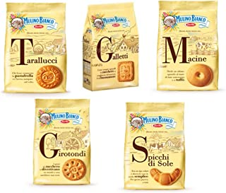 Mulino Bianco:Assorted Biscuits * Total 62.99 Ounce (1800g) * Pack of 5 [Italian Import]